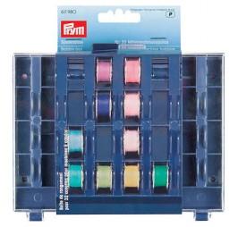 Karp õmblusmasina poolide säilitamiseks.
